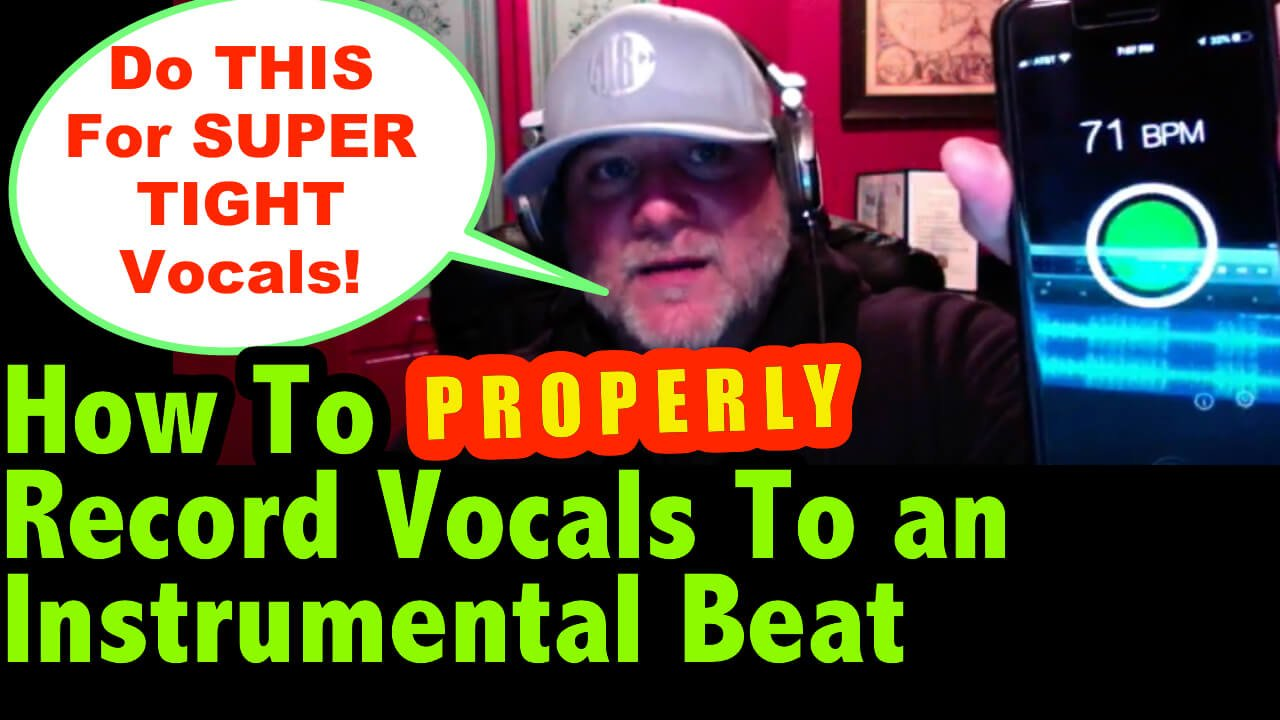 how to record vocals to a beat