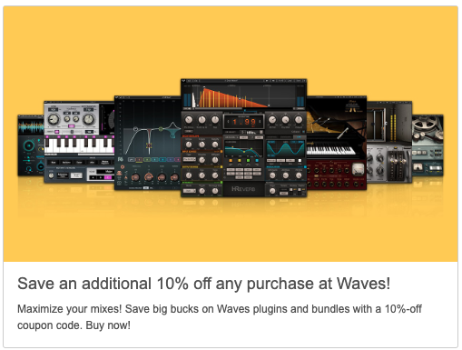 waves tune plugin discount code